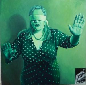 "48x48"" oil on canvas. P. Illig"